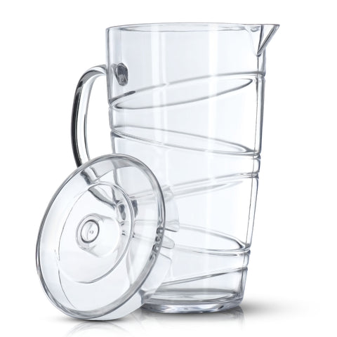 2L Swirl Design Clear Pitcher Jug With Lid