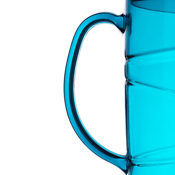 2L Swirl Design Blue Pitcher Jug With Lid
