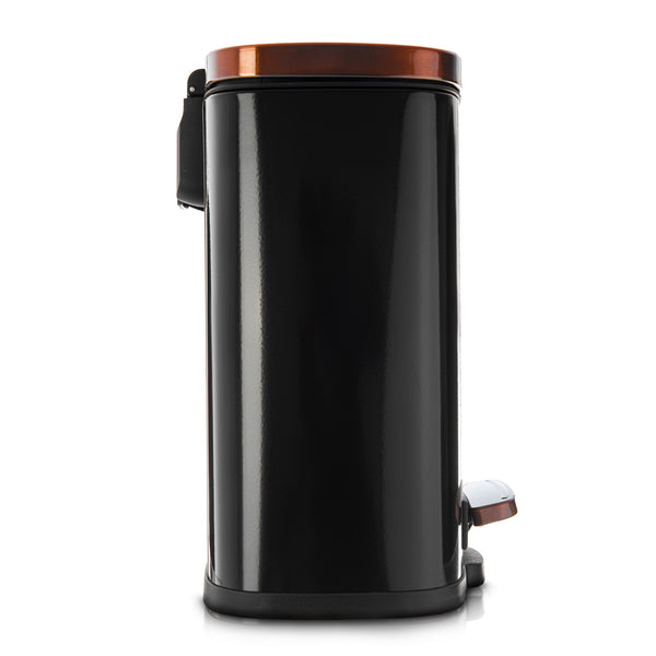 5L Stainless Steel Recycling Bin - Black Rose