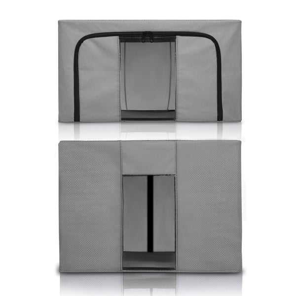 Set of 3  Extra Large Zipping Foldable Fabric Storage Boxes