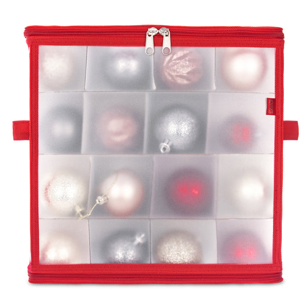 Christmas Bauble and Decoration Storage Cube Red