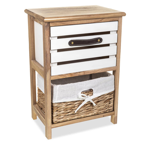 'Jupiter' Natural Slated Drawer With Basket