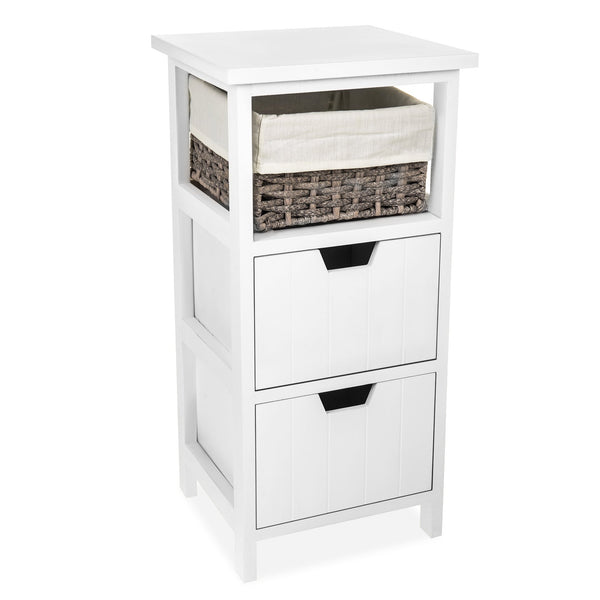 'Diana' Wooden Bedside Double Drawer