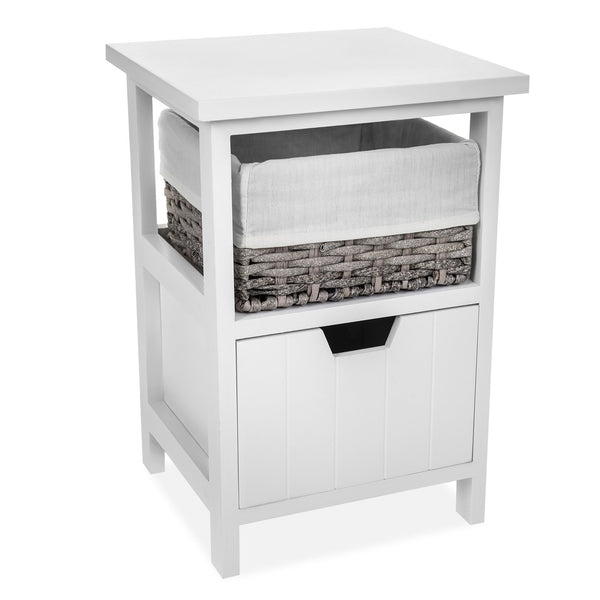 'Ceres' Wooden Bedside With Single Drawer
