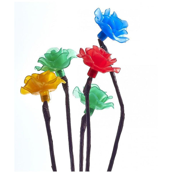 SET OF 3 SOLAR 15 LED FLOWER BRANCH LIGHTS