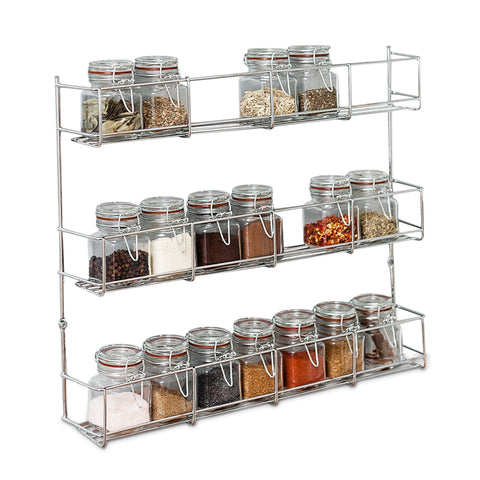 Multi-tier Chrome Spice Rack