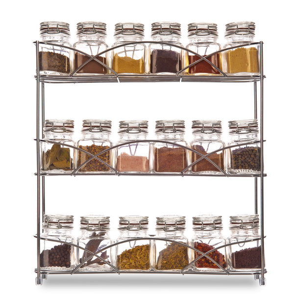 3 Tier Chrome Freestanding Spice Rack