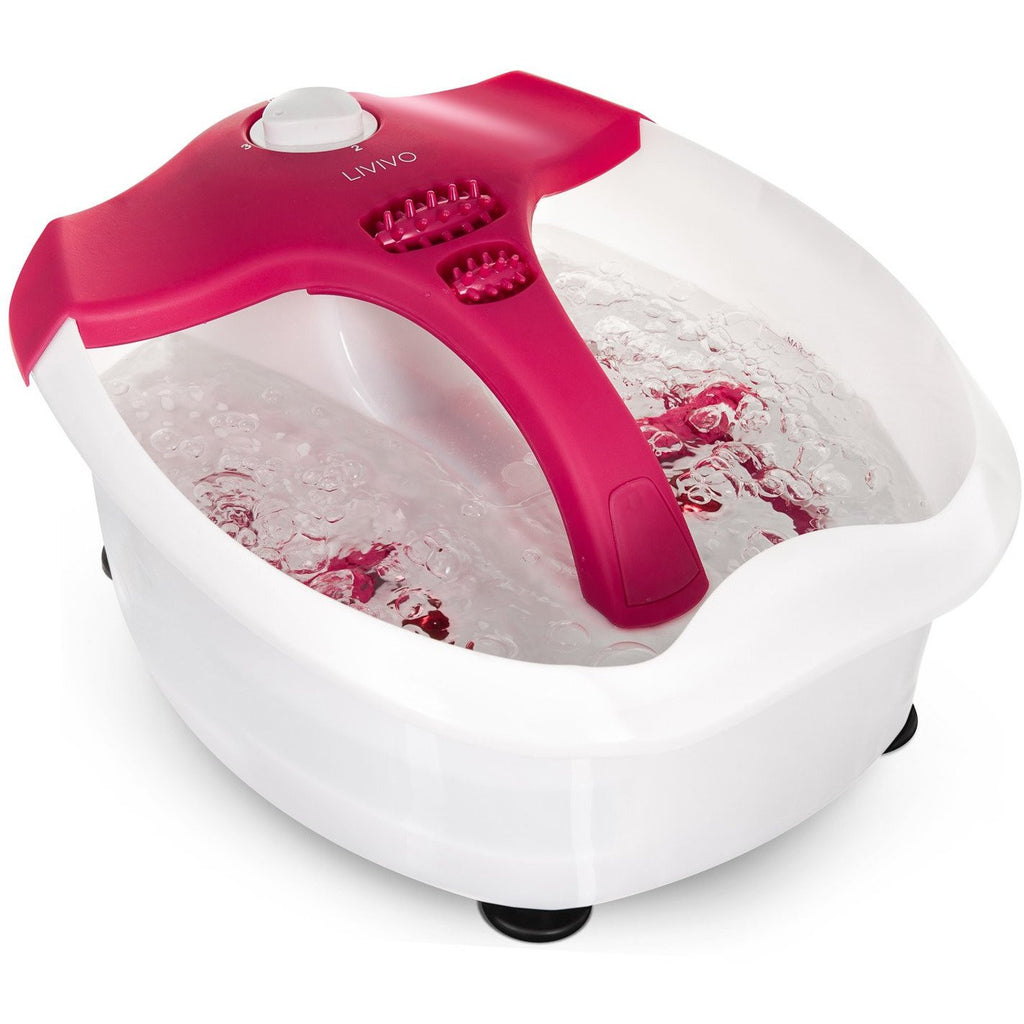 Deluxe Multi-functional Foot Spa Pink