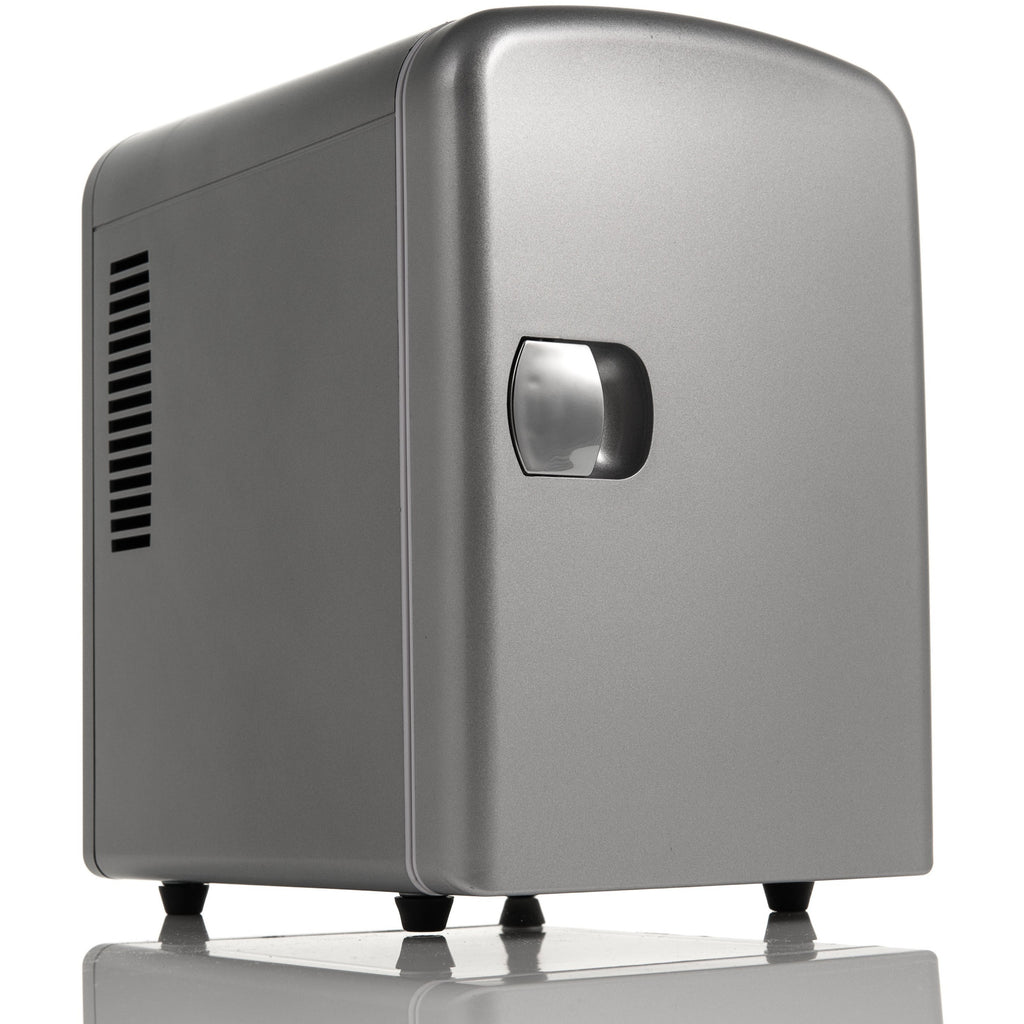 4L Mini Fridge - Silver