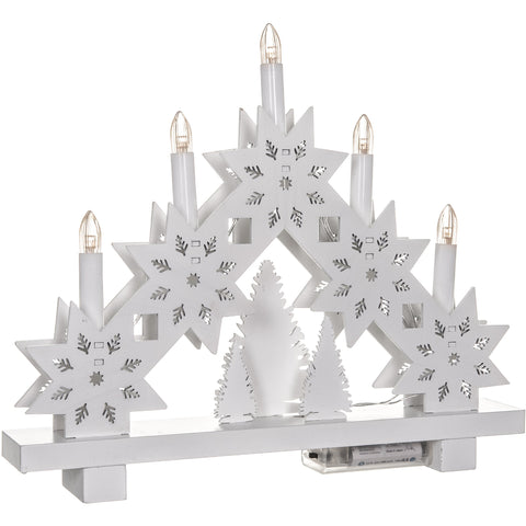 5 LED Snowflake Candle Bridge