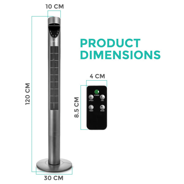 Ultra Slim Digital Oscillating Tower Fan