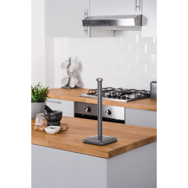 Taurus Stainless Steel Kitchen Towel Roll Holder - Dark Grey