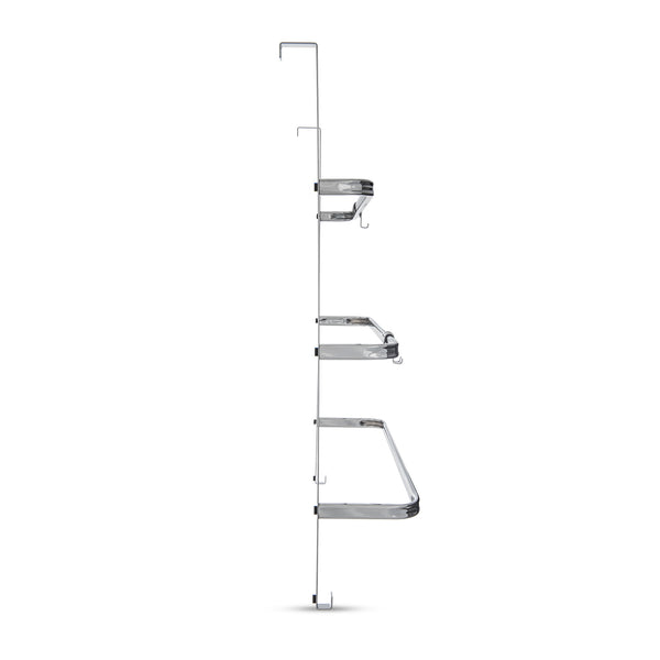 3-Tier Over Door Chrome Towel Rail