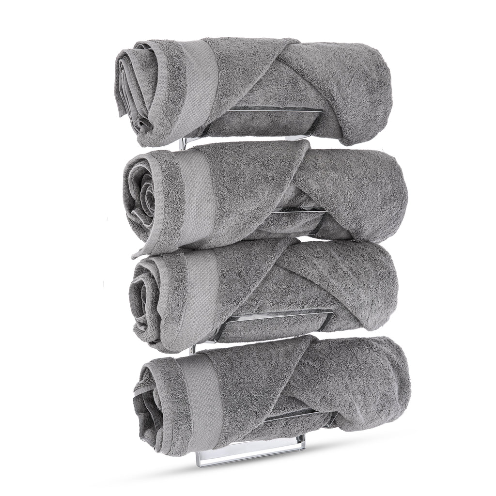 LIVIVO 2 in 1 Towel Rack Holder (over door/wall mounted)