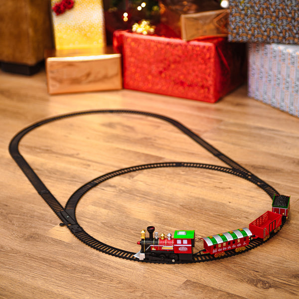 Deluxe Christmas Train Track Set