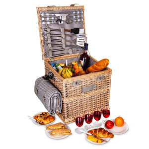 4 Person Traditional Picnic Basket Trolley