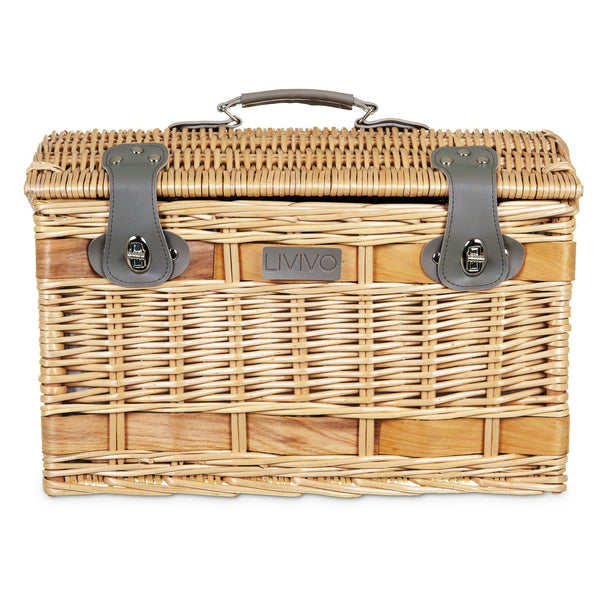 4 Person Traditional Picnic Wicker Basket XL
