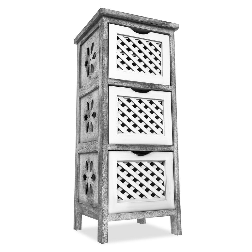 'Minerva' Three Tier Wooden Storage Tower - LIVIVO