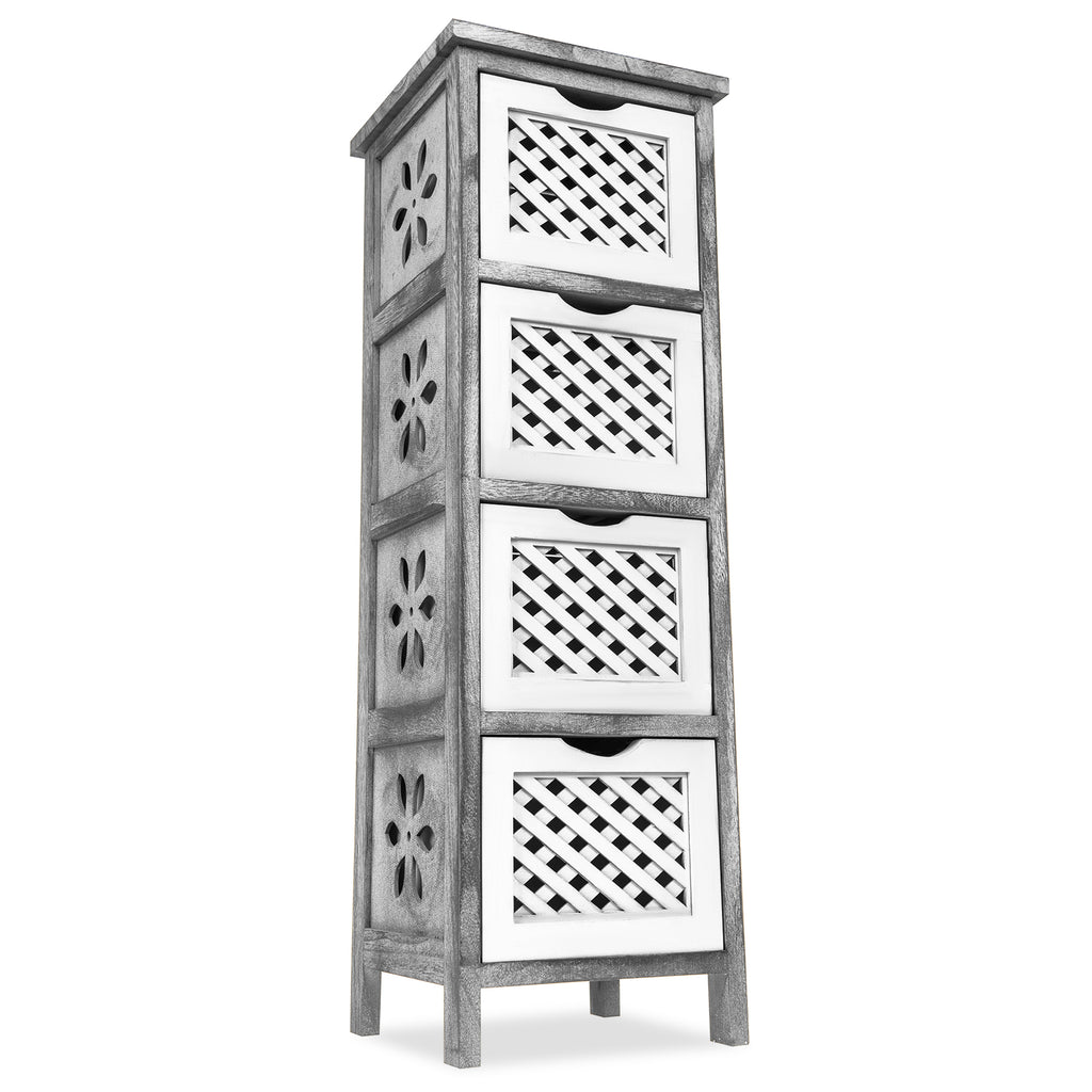 'Minerva' Wooden Storage Tower 4 Tier
