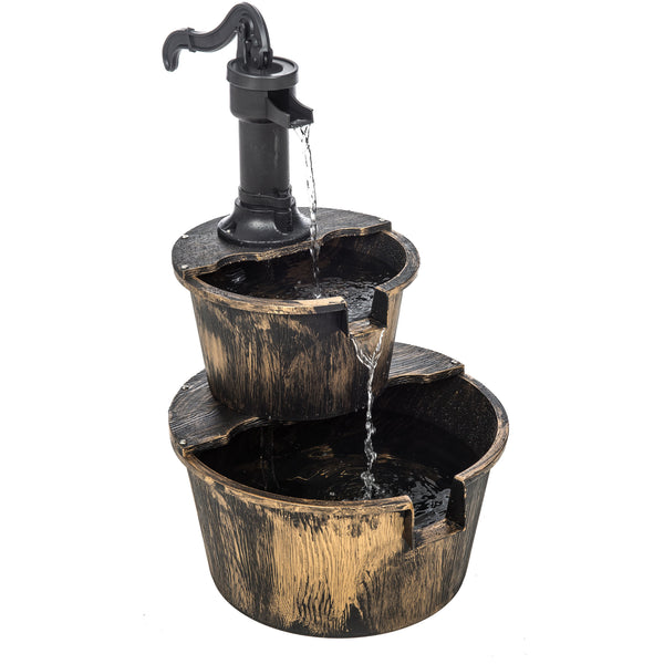 2-Tier Barrel Water Fountain
