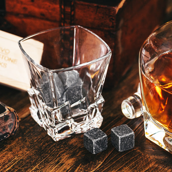 SET OF 2 ON THE ROCKS WHISKEY GLASS