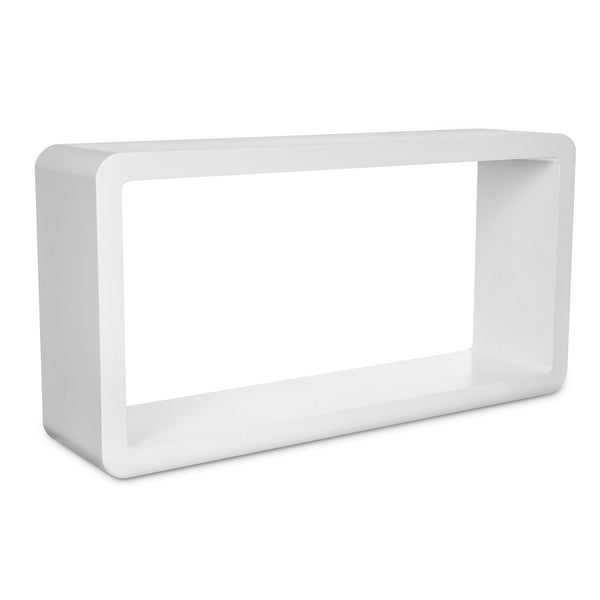 Set of 3  Rectangle Cube Wall Shelves - White