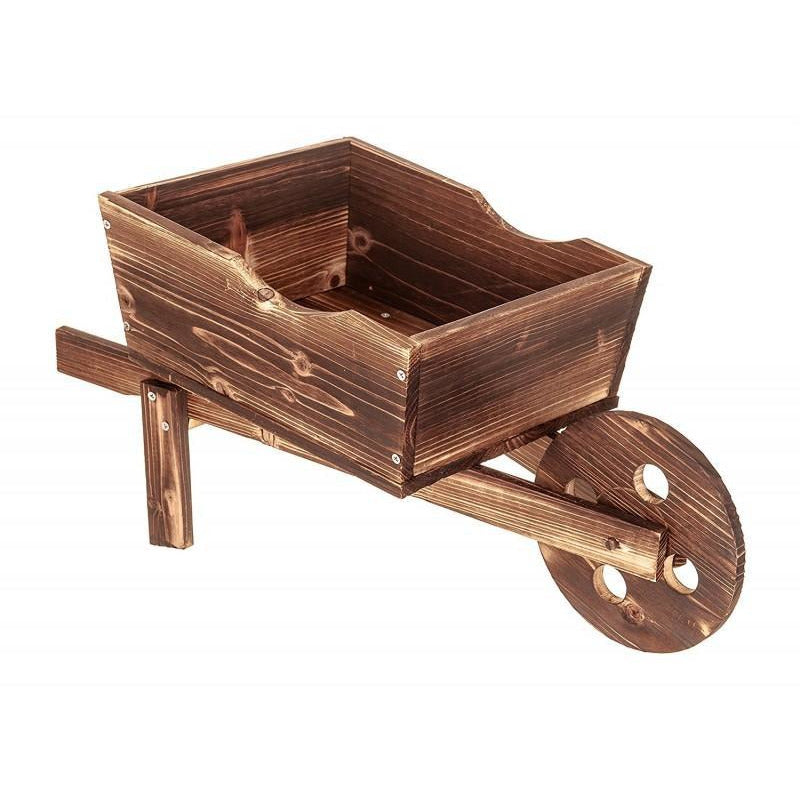Wooden Wheelbarrow Garden Planter