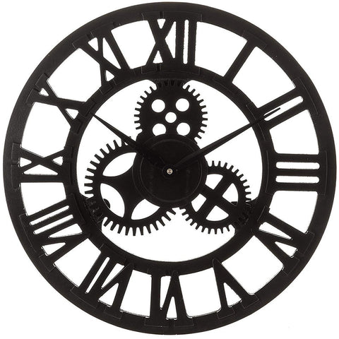 Roman Wall Clock With Mechanism Black