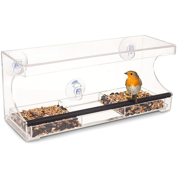 3 COMPARTMENT LARGE WINDOW BIRD FEEDER