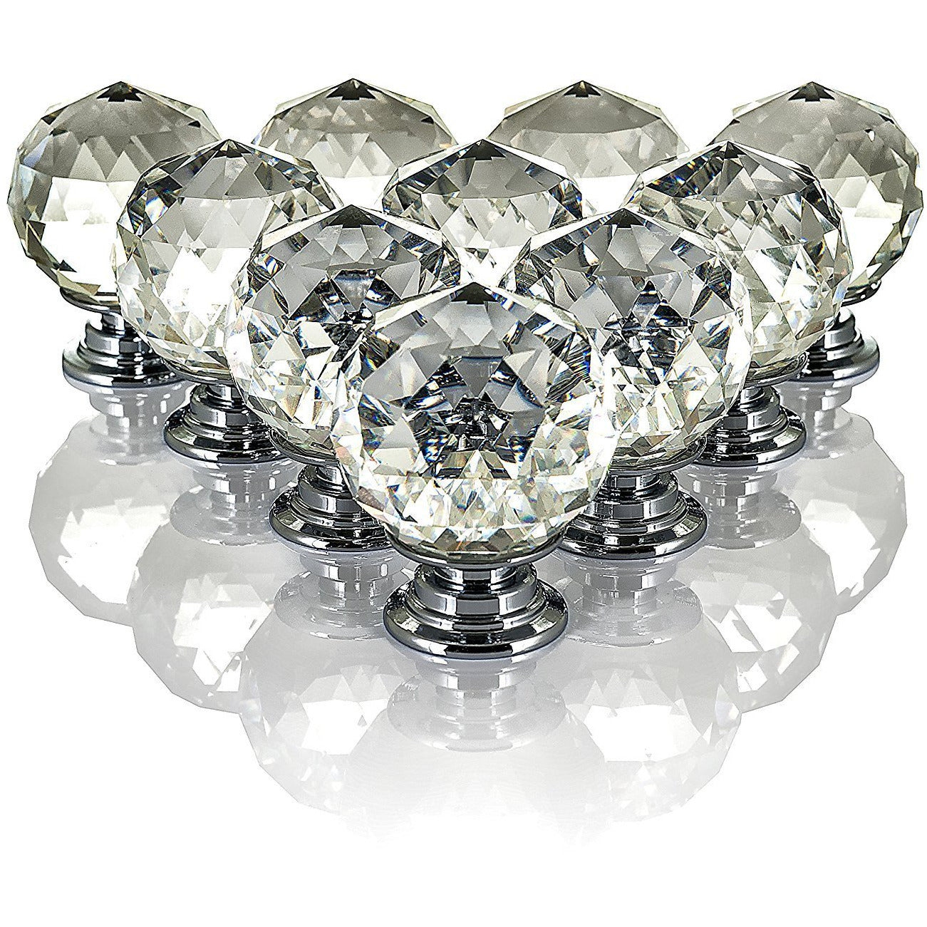 ROUND CRYSTAL DRAWER KNOBS