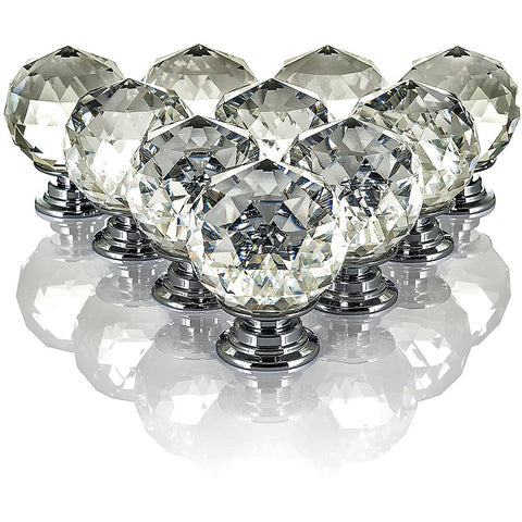 Prismatic Round Crystal Drawer Knobs
