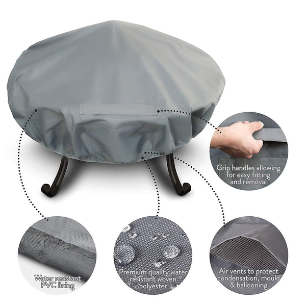 Premium Fire Pit Cover With Covered Air Vents