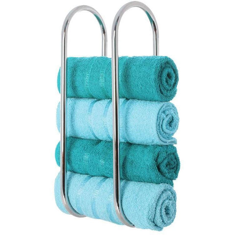 Chrome Plated Wall-mounted Bathroom Towel Holder