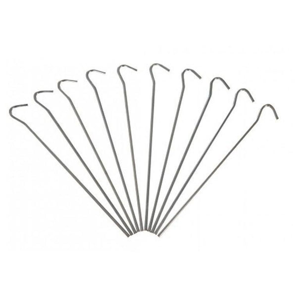 10pc Heavy Duty Galvanised Steel Tent Pegs