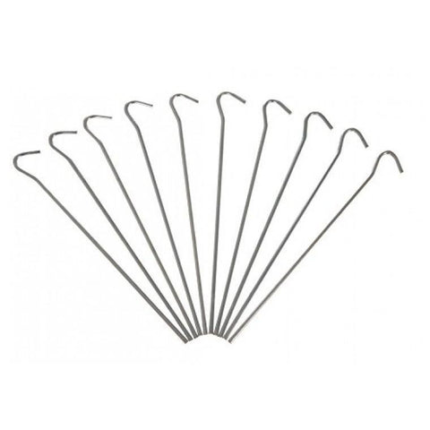 50pc Heavy Duty Galvanised Steel Tent Pegs