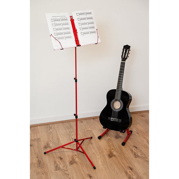 Folding Music Sheet Metal Stand With Carry Case Bag