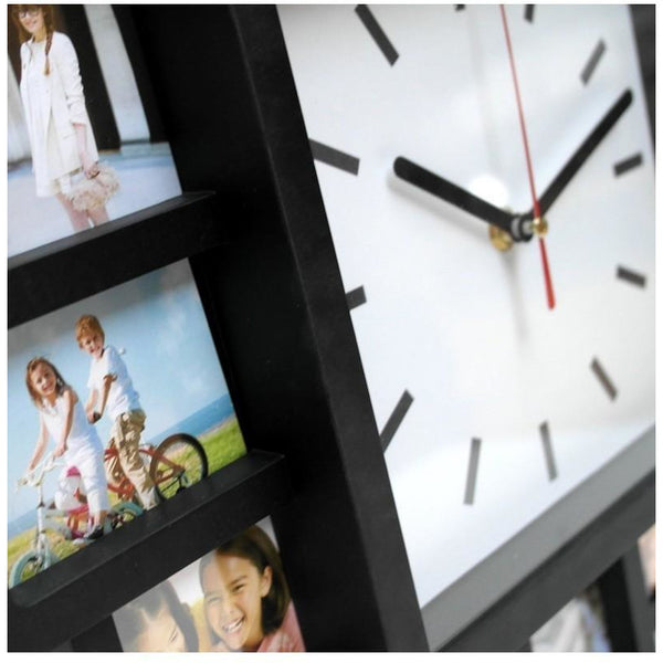 12 Photo Frames Stylish Wall Clock