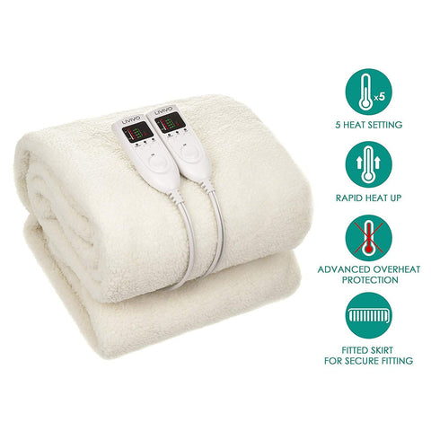 Premium Super King Polar Fleece Electric Blanket