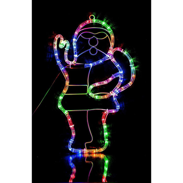 Santa Christmas Rope Light Silhouette