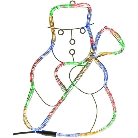 Snowman Christmas Rope Light Silhouette