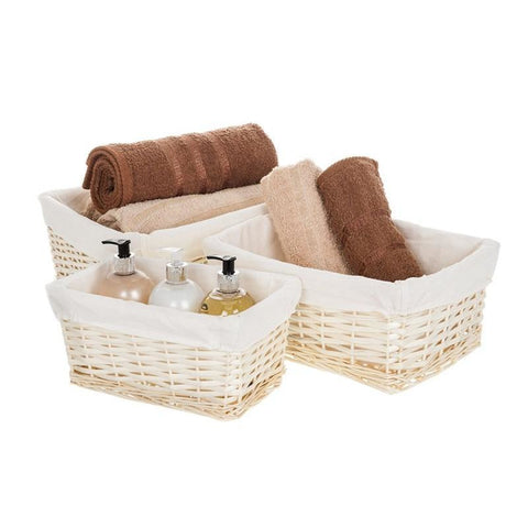 Set of 3 Wicker Baskets