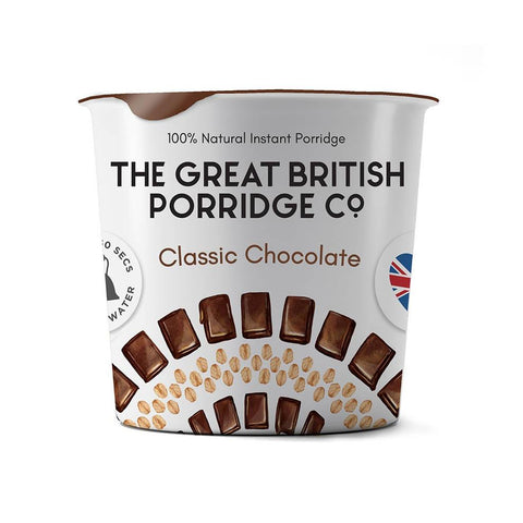 The Great British Porridge Co. Single Pot Porridge- Classic Chocolate Pack of 8