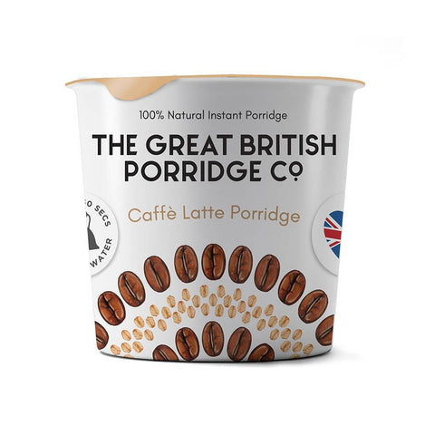 The Great British Porridge Co. Single Pot Porridge - Caffé Latte Pack of 8