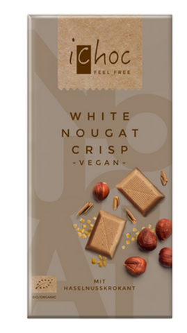 iChoc Vegan Chocolate - White Nugat Crisp