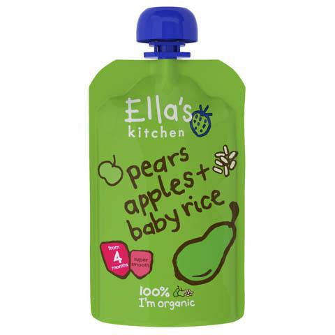 Ella's Kitchen - Baby Rice + Pears Apples
