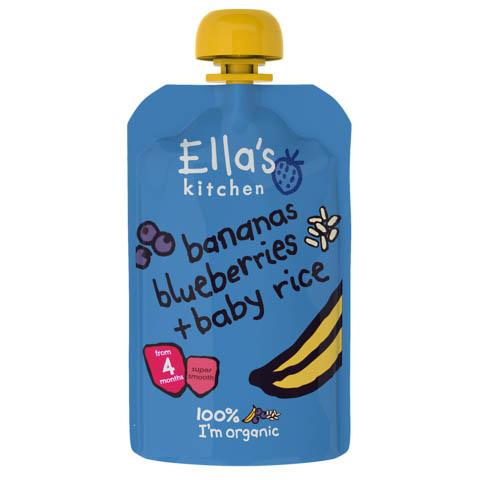 Ella's Kitchen - Baby Rice + Bananas Blueberries