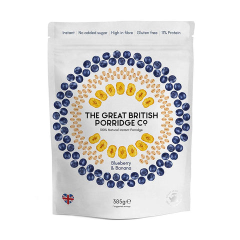 The Great British Porridge Co.  - Blueberry & Banana Porridge 4 x 385g