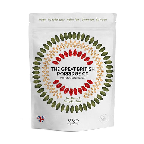 The Great British Porridge Co. - Red Berry & Pumpkin Seed Porridge 4 x 385g