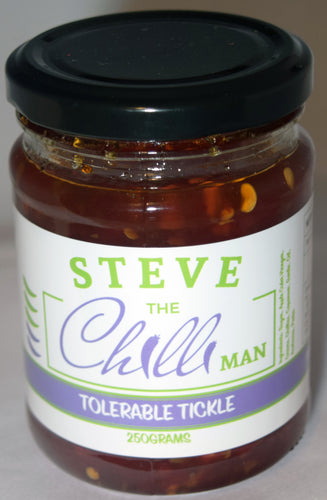 Tolerable Tickle Chilli Jam - 250grams- Heating Rating of 2/5