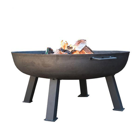 HOOLE ROUND METAL FIREPIT WITH LEGS